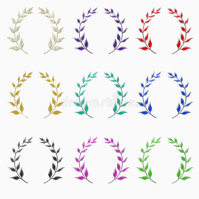 Laurel Crown Collection Stock Image