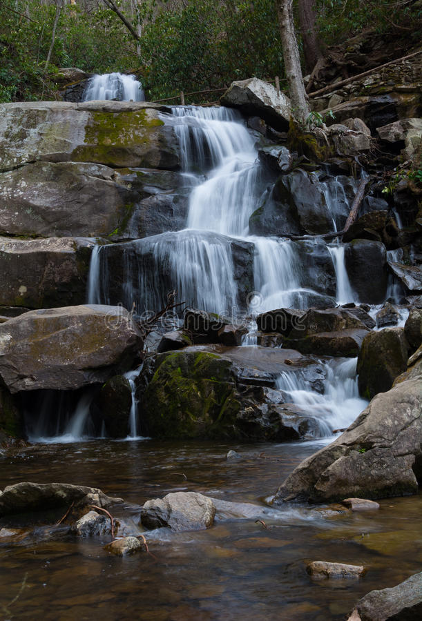 Laurel Falls de parc national de Great Smoky Mountains photographie stock