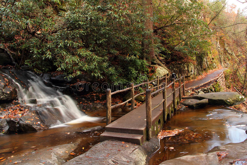 Laurel Falls. In Great Smokey Mountains National Park royalty free stock photography