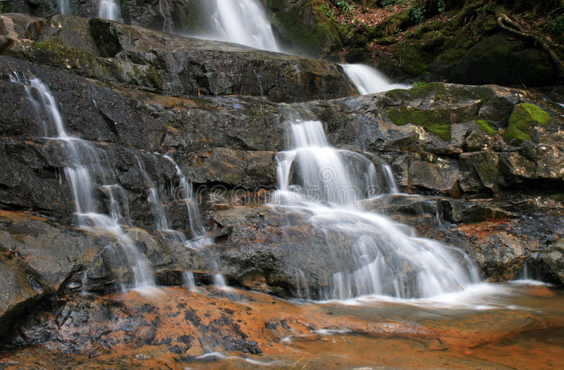 Laurel Falls in the Smoky Mountains NP royalty free stock images