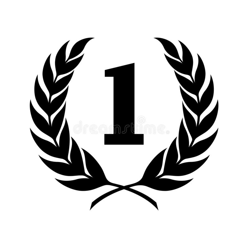 Laurel symbol illustration royalty free illustration