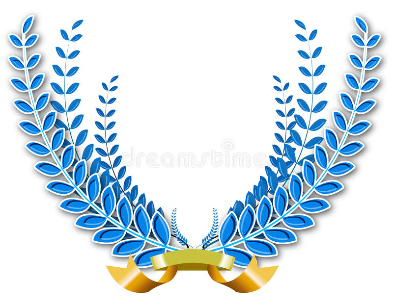 Download Laurel wreath stock illustration. Image of prize, orange - 18267449