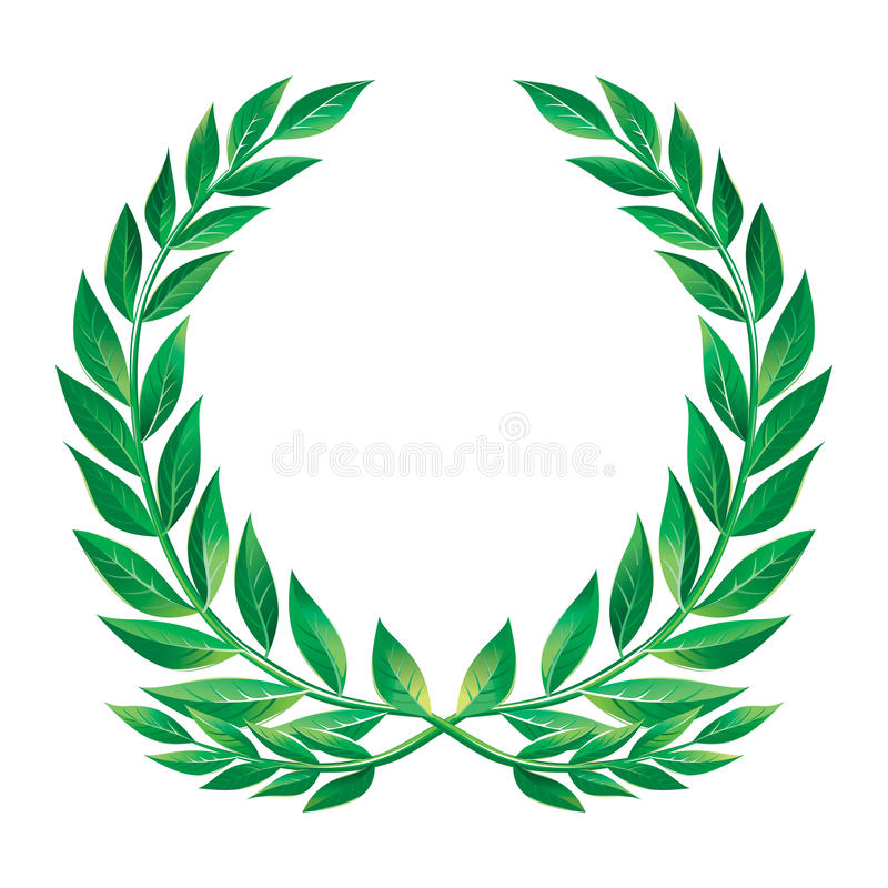 Laurel wreath. Detailed image for best prints. Original vector is ready for download