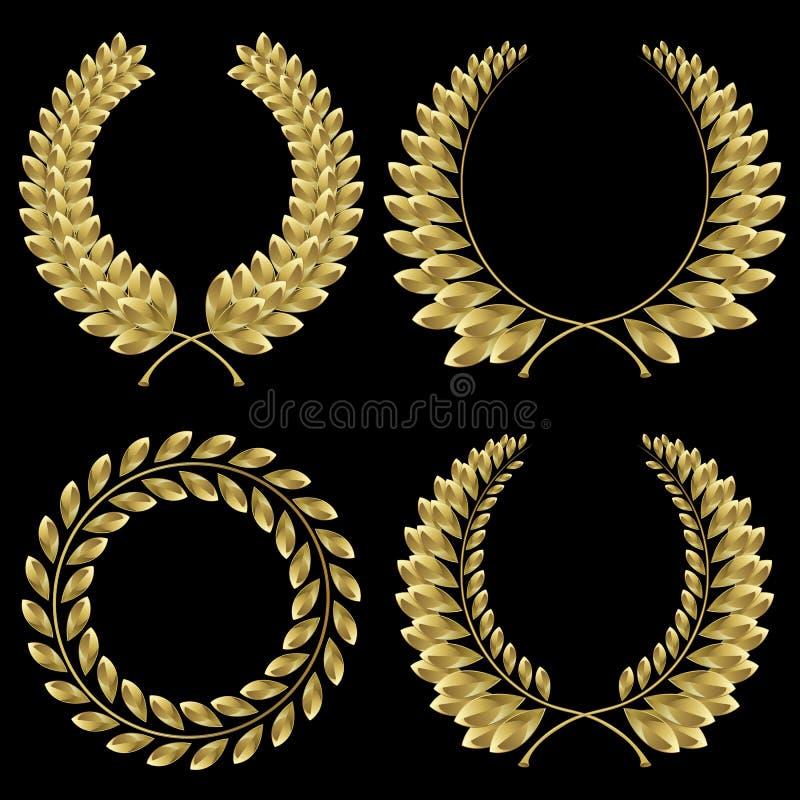Download Laurel wreath stock vector. Image of collection, heraldic - 28605345