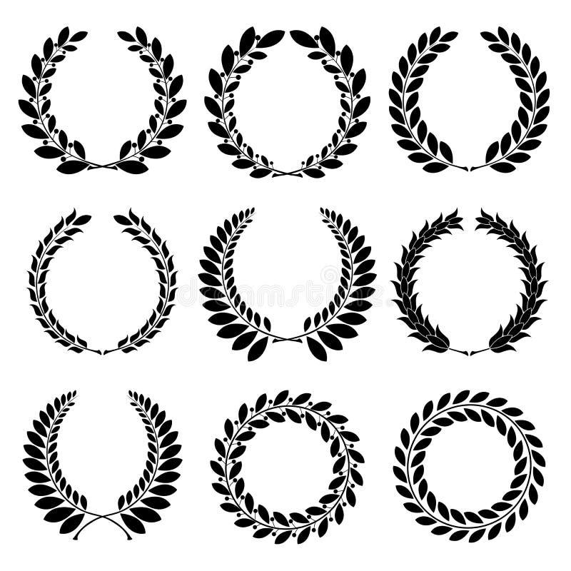 Download Laurel wreath stock vector. Image of black, circle, banner - 28605360