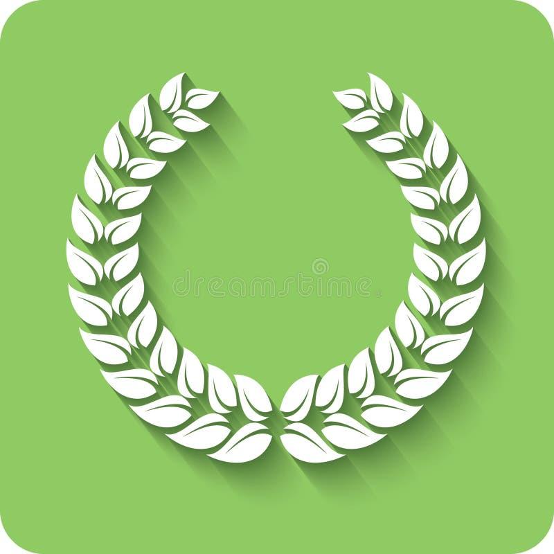 Laurel Wreath. stock abbildung