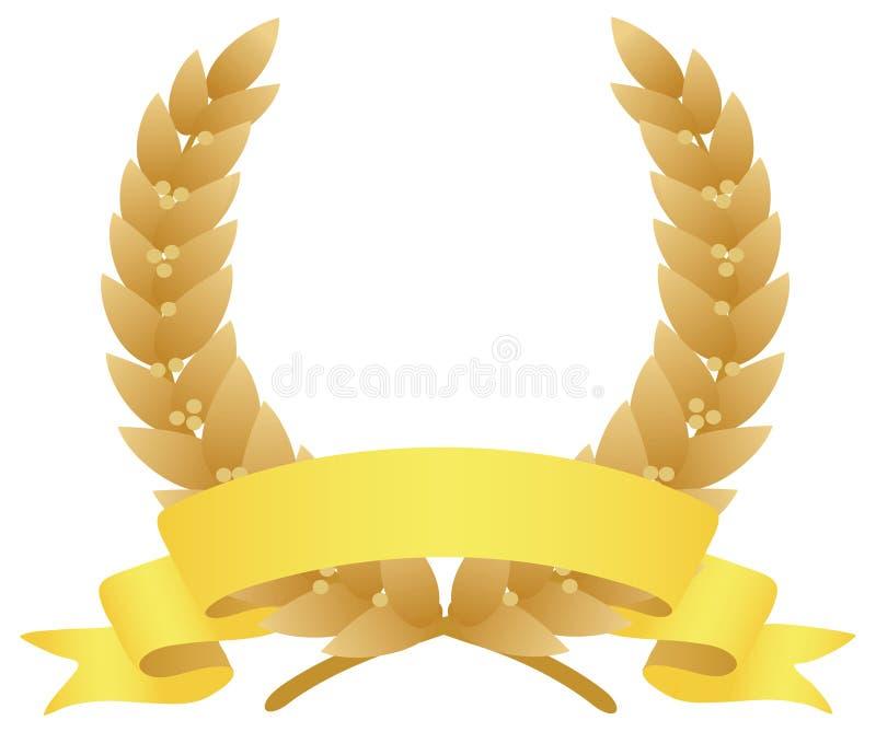 Download Laurel wreath stock vector. Image of laurel, medal, garland - 5202677