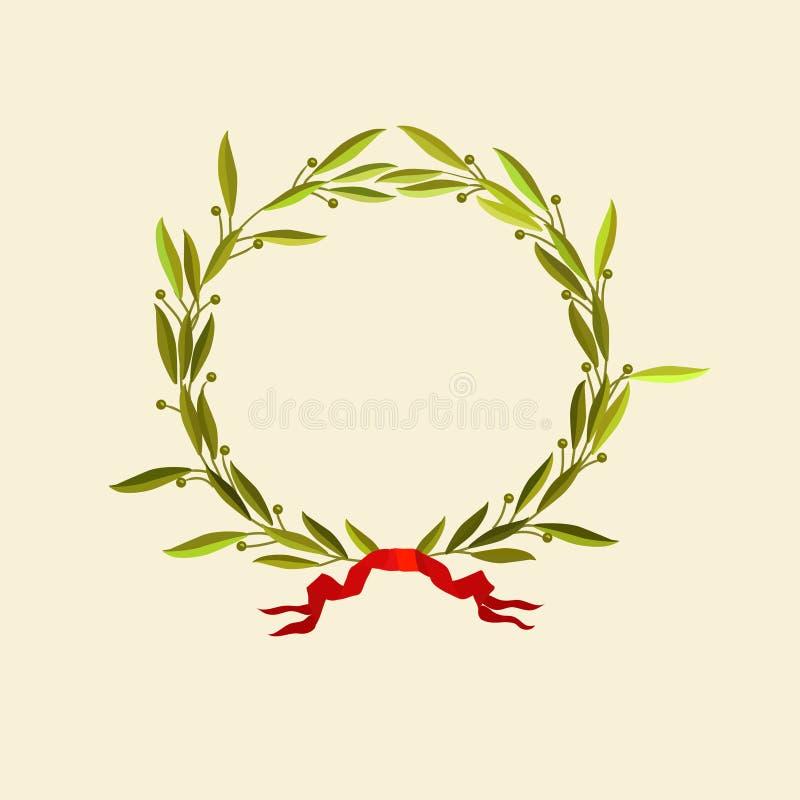 Download Laurel wreath stock vector. Image of crown, caesar, abstract - 6008473