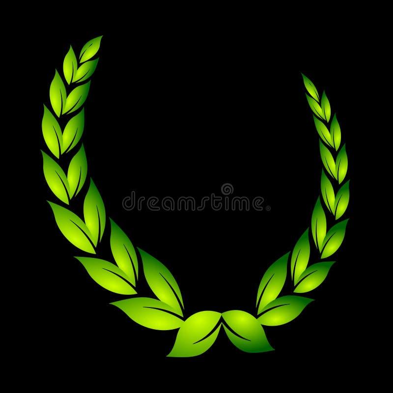 Laurel wreath on black royalty free illustration