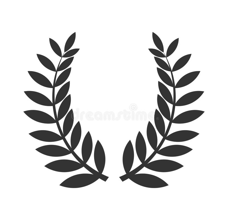 Laurel wreath black icon royalty free illustration