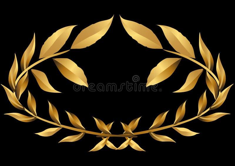 Laurel wreath gold () royalty free illustration