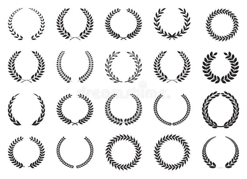 Laurel wreath collection royalty free illustration