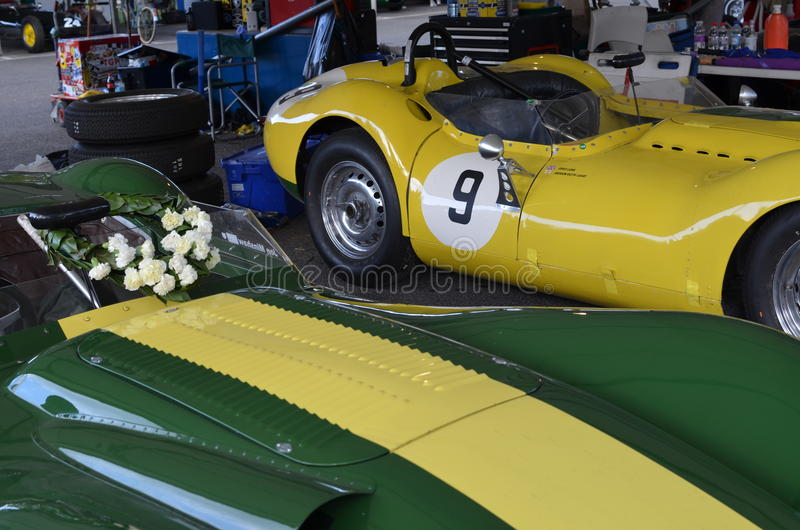 Laurel wreath at the Goodwood Revival. stock image