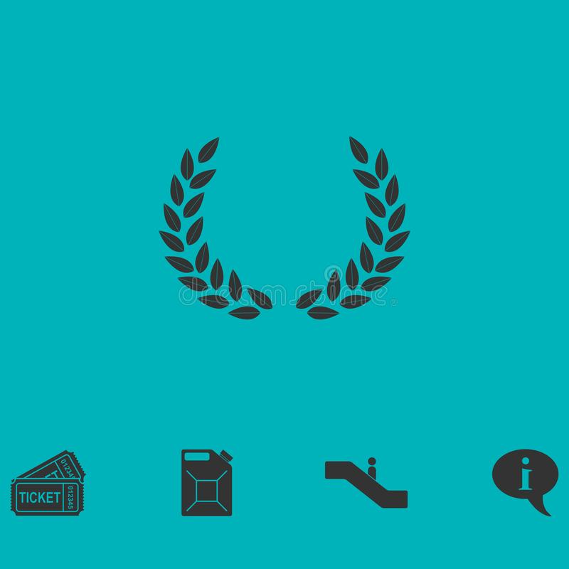 Laurel wreath icon flat vector illustration