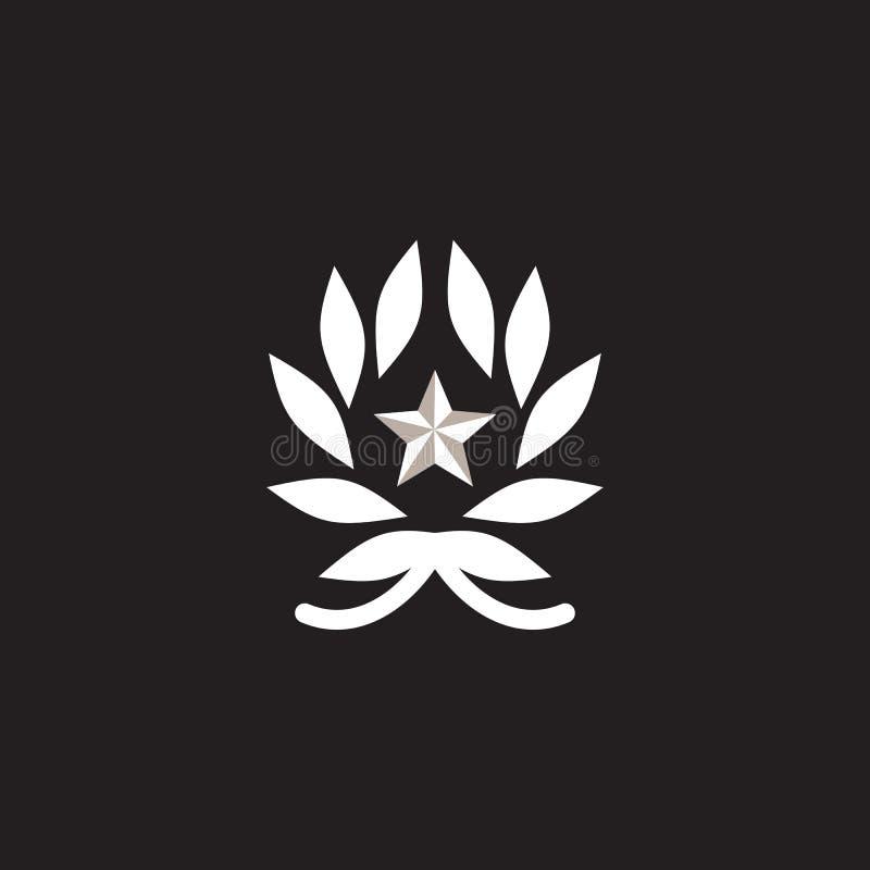 Laurel wreath icon logo design vector template. Illustration vector illustration