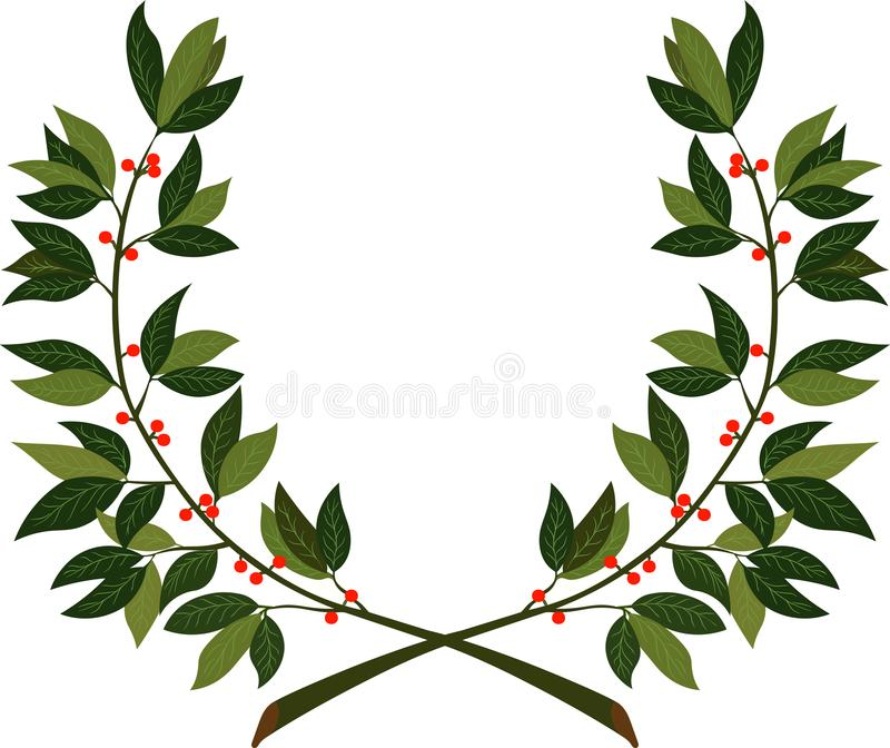 Laurel wreath - symbol of victory and achievement stock images