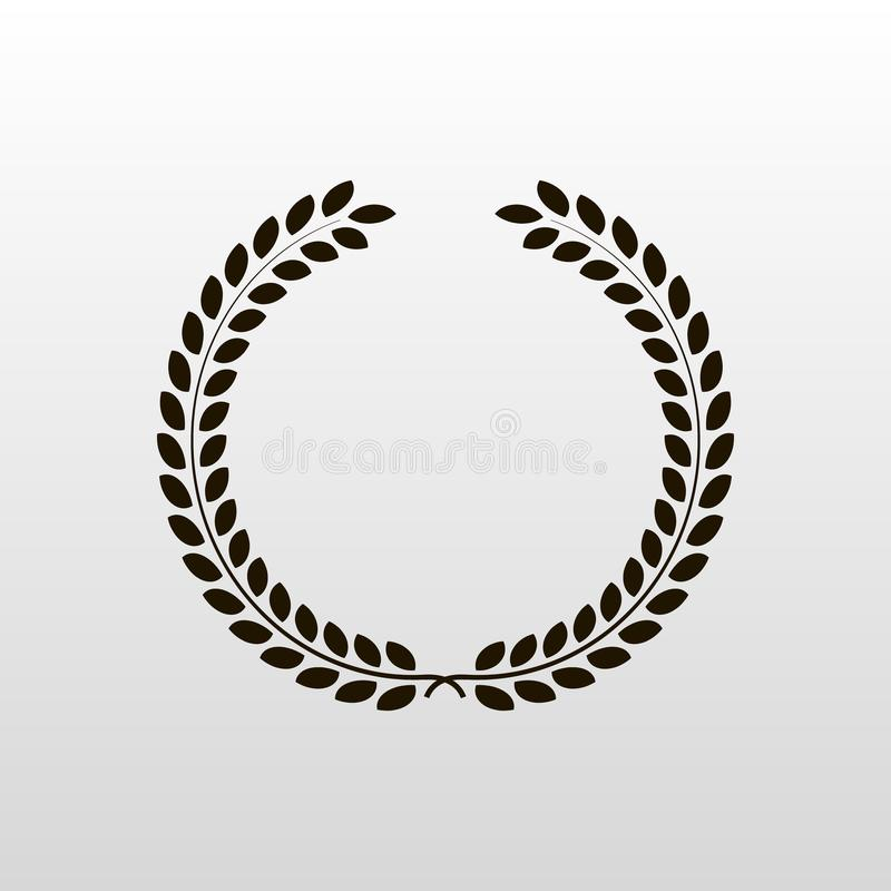 Laurel wreath - symbol of victory and power flat icon for websites stock illustration