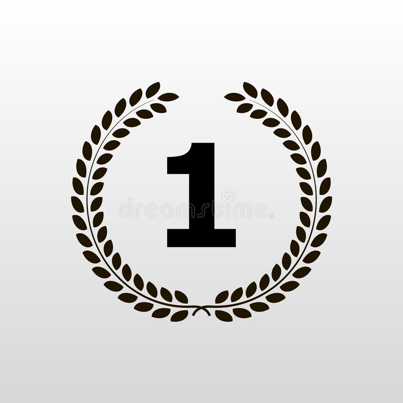 Laurel wreath - symbol of victory and power flat icon for websites royalty free illustration