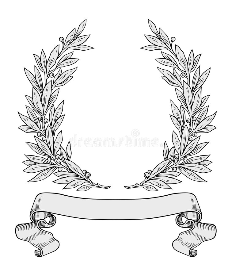 Laurel wreath vector stock illustration