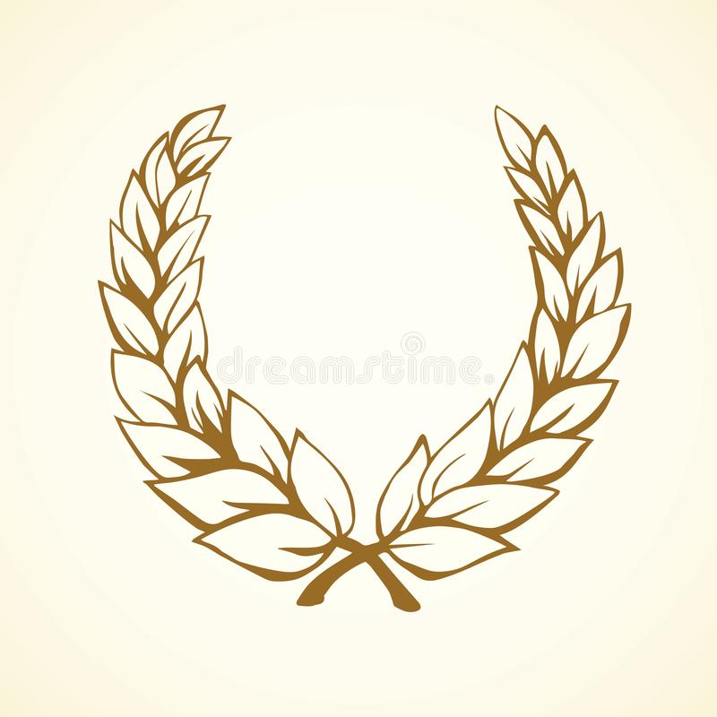 Laurel Wreath Vector Drawing Stock Vector Illustration Of Anniversary Flourish 109612321 Choose from 700+ cartoon crown graphic resources and download in the form of png, eps, ai or psd. laurel wreath vector drawing stock