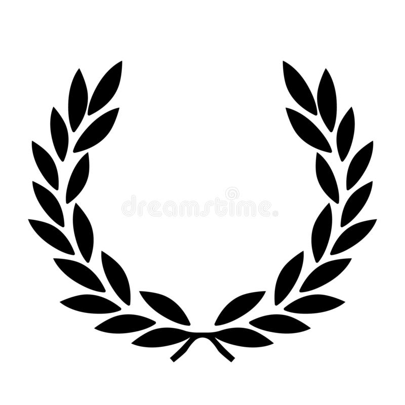 Laurel wreath vector eps Hand drawn, Vector, Eps, Logo, Icon, crafteroks, silhouette Illustration for different uses vector illustration