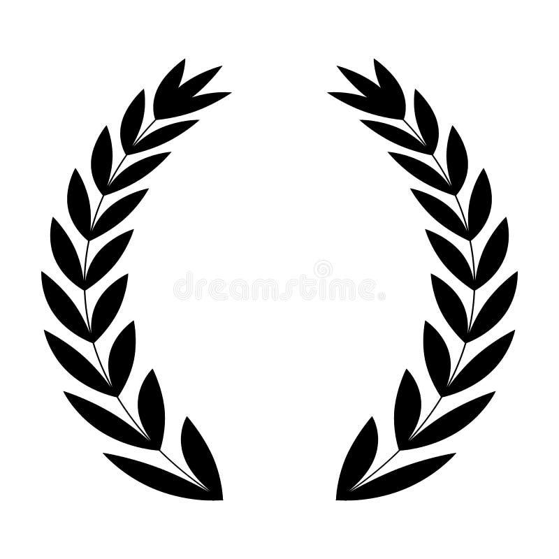 laurel wreath vector icon stock vector illustration of decoration rh dreamstime com laurel wreath vector art free laurel wreath vector free download