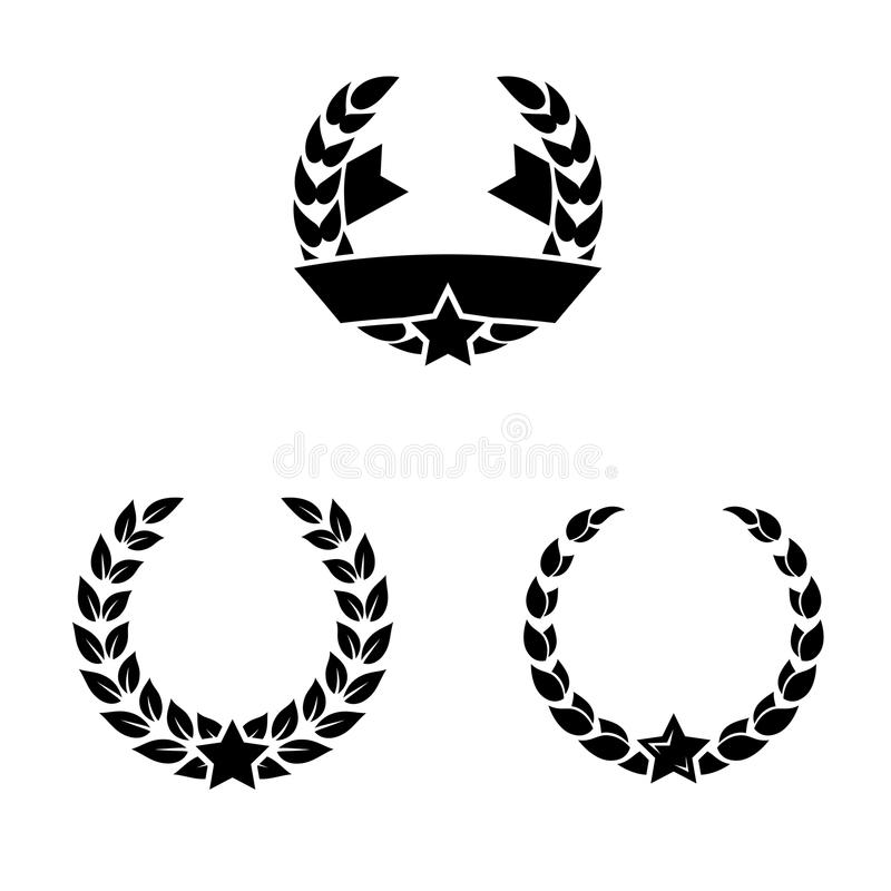 Download Laurel wreaths stock vector. Image of leader, circle - 26629016