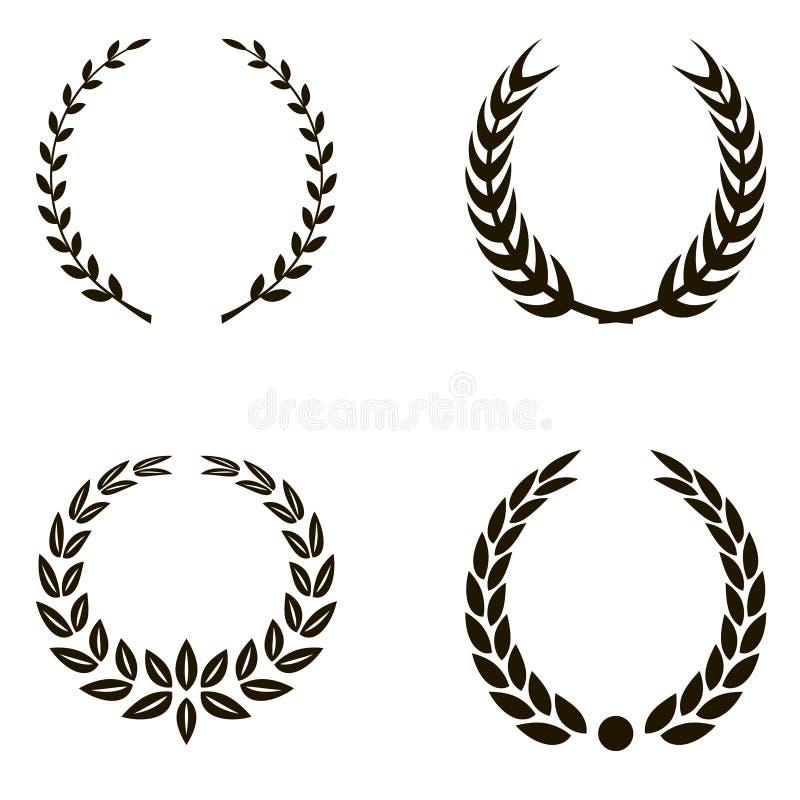 Laurel Wreaths royalty illustrazione gratis
