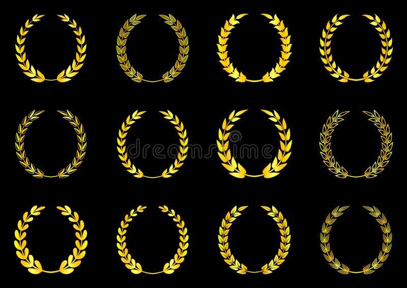 Laurel Wreaths Collection ilustración del vector