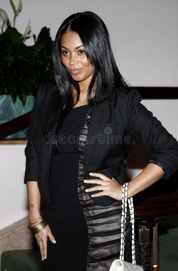 Lauren London. At the ESSENCE Black Women in Hollywood Luncheon held at the Beverly Hills Hotel in Beverly Hills, California, United States on February 19, 2009 stock images