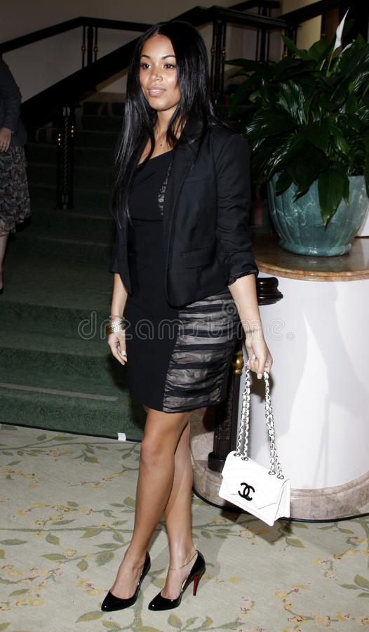 Lauren London. At the ESSENCE Black Women in Hollywood Luncheon held at the Beverly Hills Hotel in Beverly Hills, California, United States on February 19, 2009 stock photography