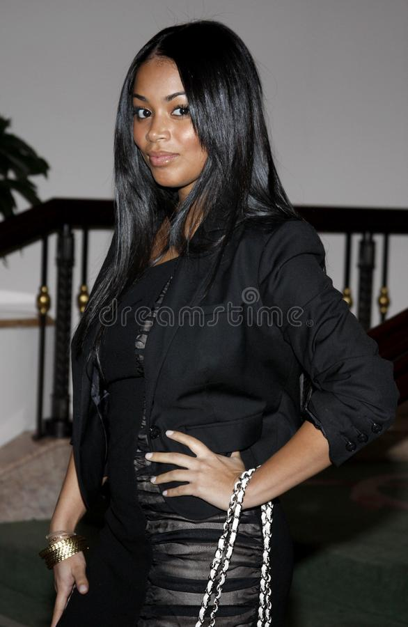 Lauren London. At the Essence Black Women in Hollywood Luncheon held at the Beverly Hills Hotel in Beverly Hills, USA on February 19, 2009 royalty free stock photography