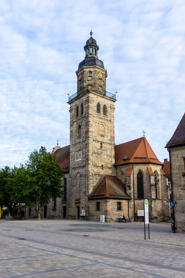 Laurentius教会在阿尔特多夫在巴伐利亚德国 免版税库存图片