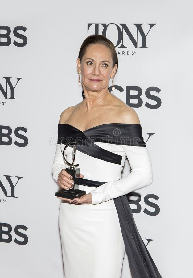 Laurie Metcalf chez Tony Awards 2018 photographie stock libre de droits