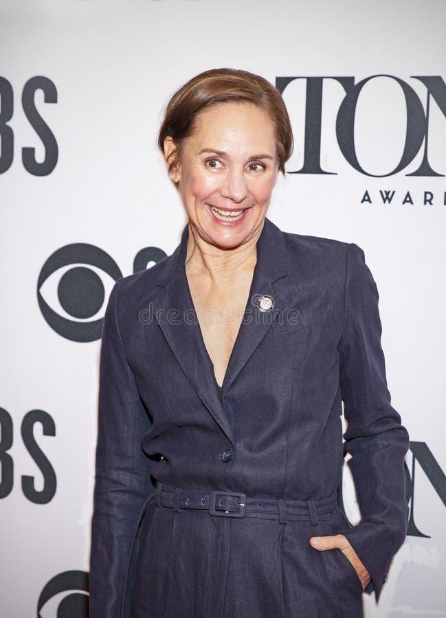 Laurie Metcalf en Tony Awards Meet 2019 los candidatos imágenes de archivo libres de regalías