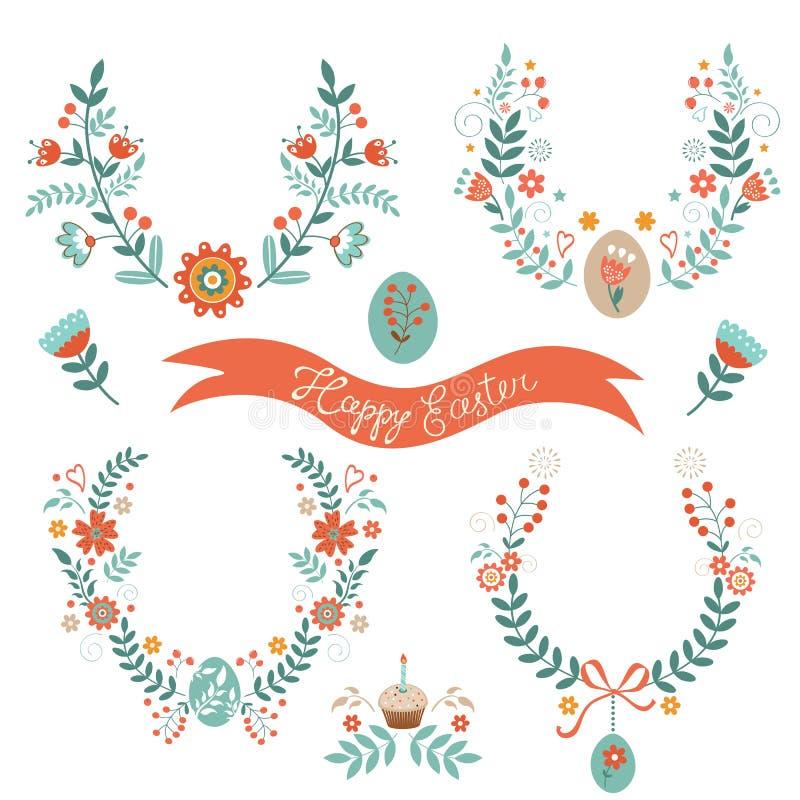 Lauriers de Pâques illustration stock
