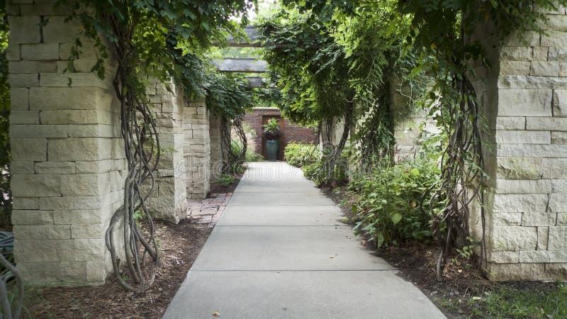 Lauritzentuinen, Omaha, Nebraska, formele tuinen royalty-vrije stock afbeelding