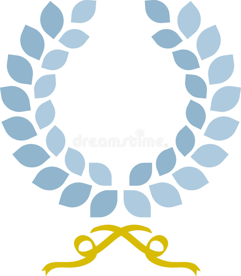 laurowy prosty wianek royalty ilustracja