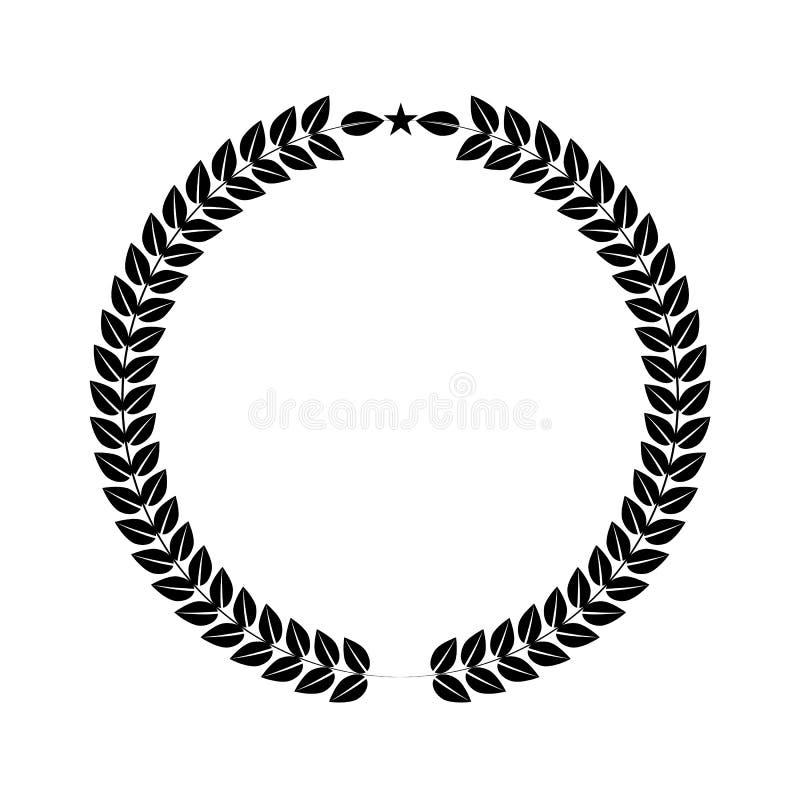 Laurowy wianek dla twój logo lub symbolu projekta Płaski koloru styl również zwrócić corel ilustracji wektora ilustracji