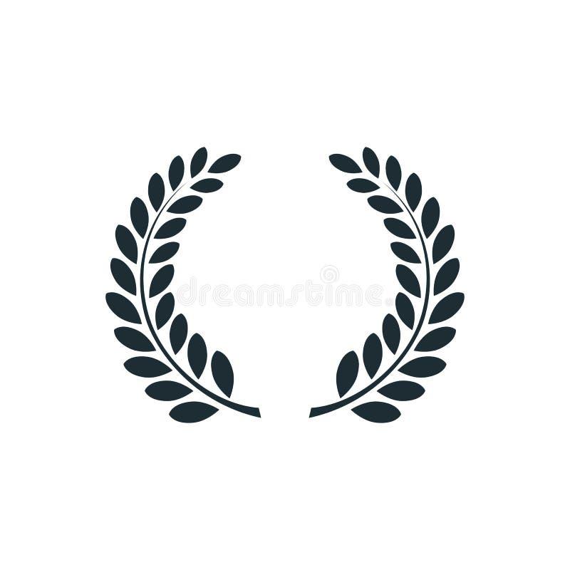 Laurowy wianek, prosty pojęcie logo ilustracji