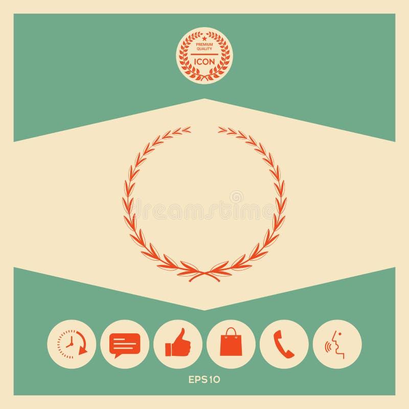 Laurowy wianek, symbol royalty ilustracja