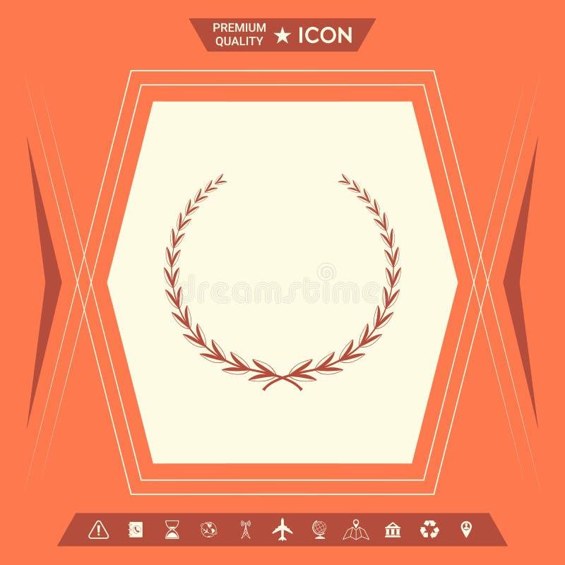 Laurowy wianek - symbol royalty ilustracja