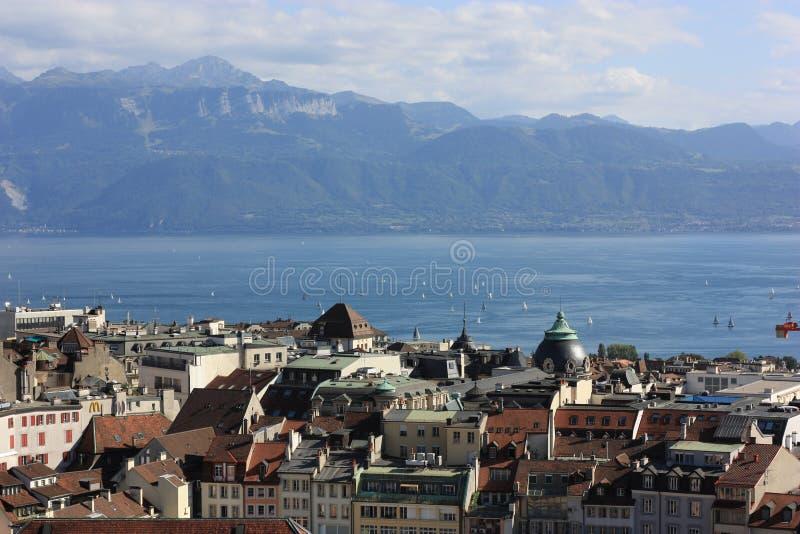 lausanne Switzerland obraz stock