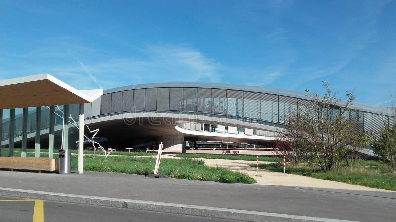 Lausanne widoku EPFL rolex obraz royalty free