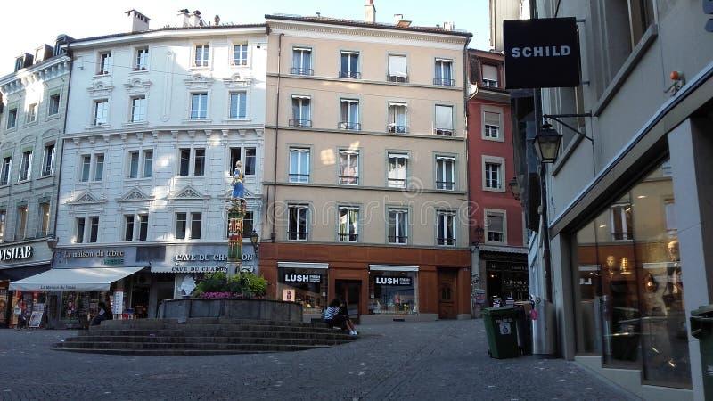 Lausanne widoku palud zdjęcie royalty free