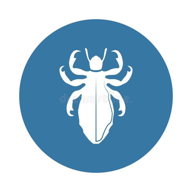 Lausikone Element von Insektenikonen für bewegliche Konzept und Netz apps Ausweisart-Lausikone kann für Netz und bewegliche apps  lizenzfreie abbildung