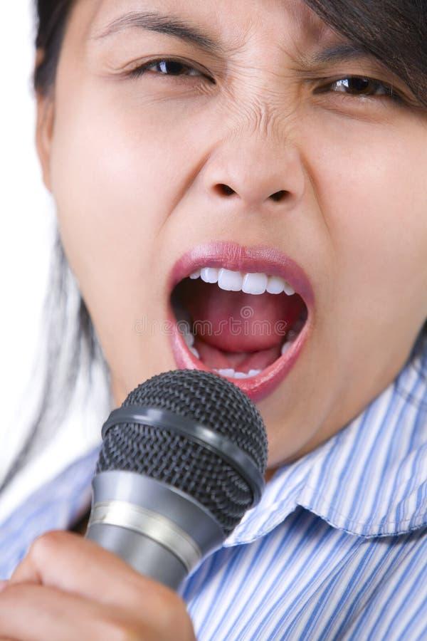 Laut singen stockbild