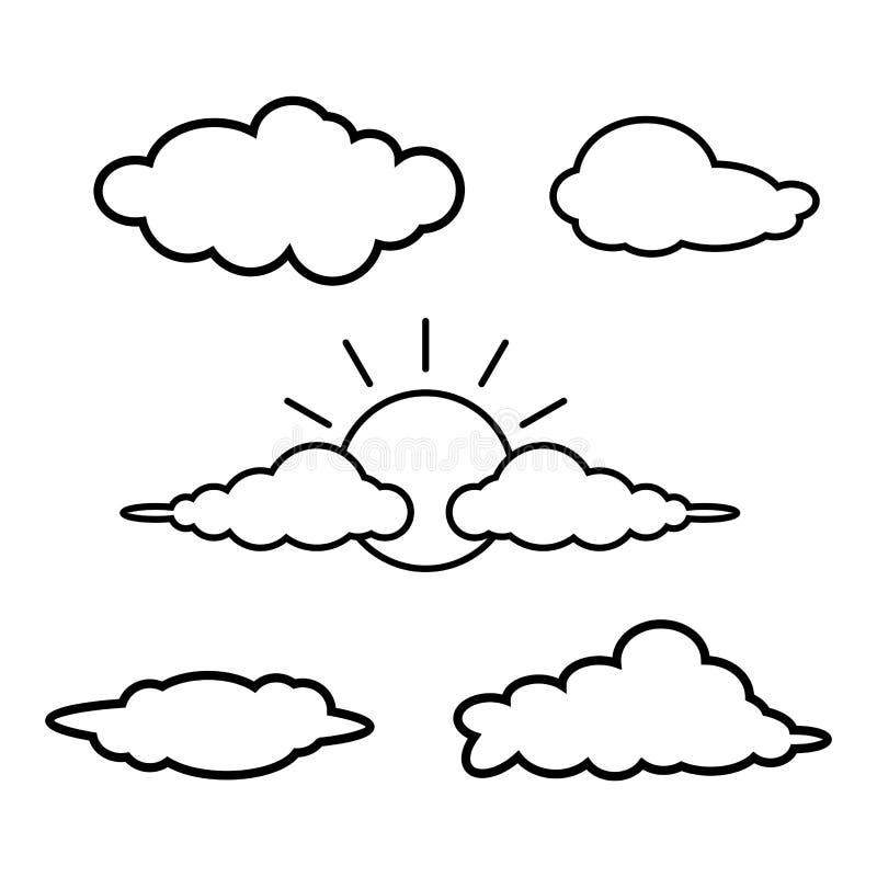 Laute Ikone Wolken-Ikonen-Kunst Wolken-Ikonen-Bild Wolken-Ikonen-Bild Wolken-Ikonenlogo Wolken-Ikone flach Wolkenikonendesign Wol vektor abbildung