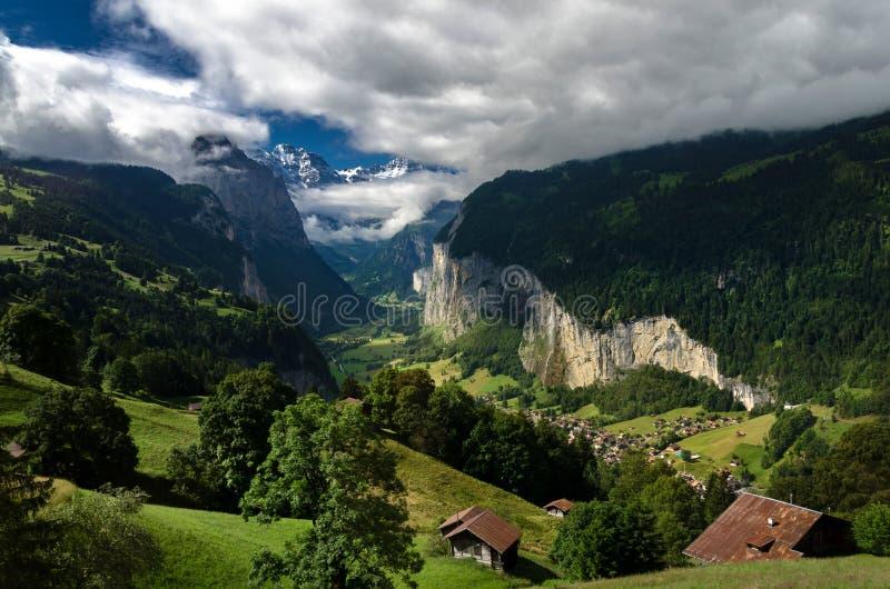 Lauterbrunnen Swizerland Kleine Scheidegg immagine stock libera da diritti