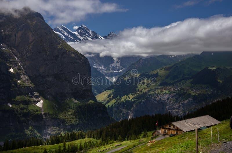 Lauterbrunnen Swizerland Kleine Scheidegg fotografie stock
